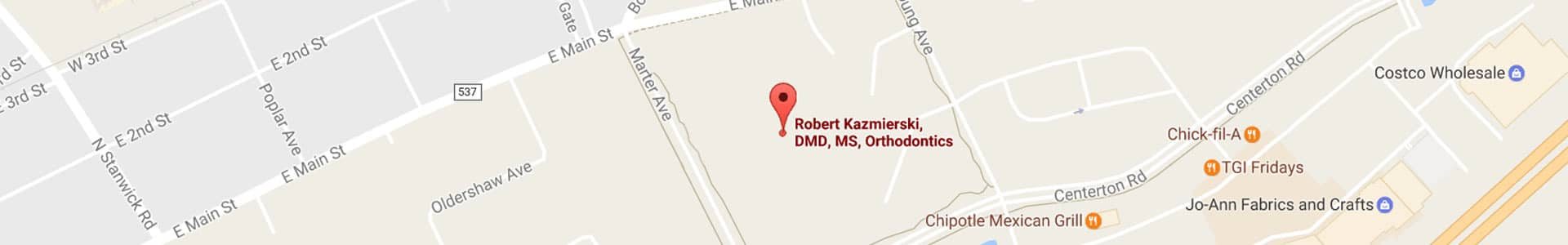 Footer Map Moorestown Orthodontics Moorestown, NJ